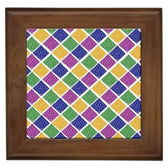 African Illutrations Plaid Color Rainbow Blue Green Yellow Purple White Line Chevron Wave Polkadot Framed Tiles
