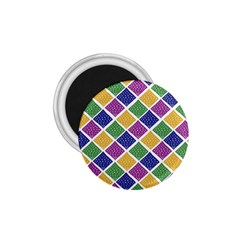 African Illutrations Plaid Color Rainbow Blue Green Yellow Purple White Line Chevron Wave Polkadot 1.75  Magnets