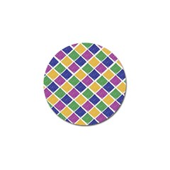 African Illutrations Plaid Color Rainbow Blue Green Yellow Purple White Line Chevron Wave Polkadot Golf Ball Marker (4 pack)