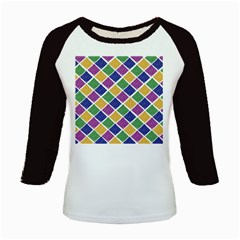 African Illutrations Plaid Color Rainbow Blue Green Yellow Purple White Line Chevron Wave Polkadot Kids Baseball Jerseys