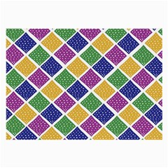 African Illutrations Plaid Color Rainbow Blue Green Yellow Purple White Line Chevron Wave Polkadot Large Glasses Cloth (2-Side)