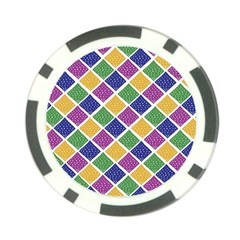 African Illutrations Plaid Color Rainbow Blue Green Yellow Purple White Line Chevron Wave Polkadot Poker Chip Card Guard