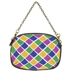African Illutrations Plaid Color Rainbow Blue Green Yellow Purple White Line Chevron Wave Polkadot Chain Purses (One Side)