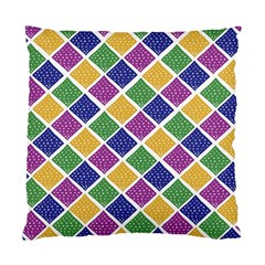 African Illutrations Plaid Color Rainbow Blue Green Yellow Purple White Line Chevron Wave Polkadot Standard Cushion Case (Two Sides)