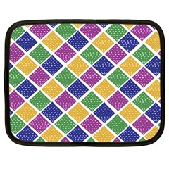 African Illutrations Plaid Color Rainbow Blue Green Yellow Purple White Line Chevron Wave Polkadot Netbook Case (XL)