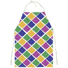 African Illutrations Plaid Color Rainbow Blue Green Yellow Purple White Line Chevron Wave Polkadot Full Print Aprons