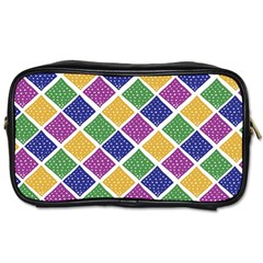 African Illutrations Plaid Color Rainbow Blue Green Yellow Purple White Line Chevron Wave Polkadot Toiletries Bags