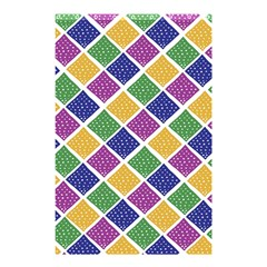 African Illutrations Plaid Color Rainbow Blue Green Yellow Purple White Line Chevron Wave Polkadot Shower Curtain 48  x 72  (Small)