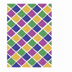 African Illutrations Plaid Color Rainbow Blue Green Yellow Purple White Line Chevron Wave Polkadot Large Garden Flag (Two Sides)