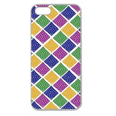 African Illutrations Plaid Color Rainbow Blue Green Yellow Purple White Line Chevron Wave Polkadot Apple Seamless iPhone 5 Case (Clear)