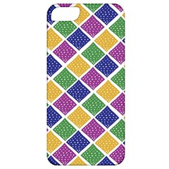 African Illutrations Plaid Color Rainbow Blue Green Yellow Purple White Line Chevron Wave Polkadot Apple iPhone 5 Classic Hardshell Case