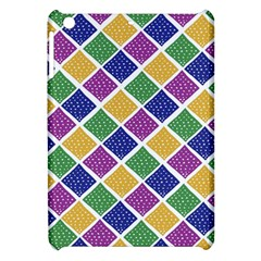 African Illutrations Plaid Color Rainbow Blue Green Yellow Purple White Line Chevron Wave Polkadot Apple iPad Mini Hardshell Case