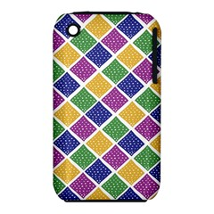 African Illutrations Plaid Color Rainbow Blue Green Yellow Purple White Line Chevron Wave Polkadot iPhone 3S/3GS
