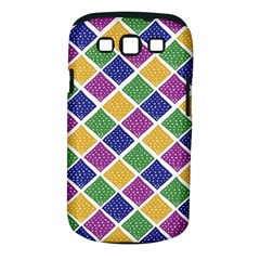 African Illutrations Plaid Color Rainbow Blue Green Yellow Purple White Line Chevron Wave Polkadot Samsung Galaxy S III Classic Hardshell Case (PC+Silicone)
