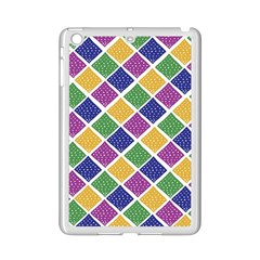 African Illutrations Plaid Color Rainbow Blue Green Yellow Purple White Line Chevron Wave Polkadot iPad Mini 2 Enamel Coated Cases