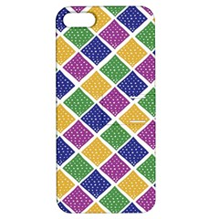 African Illutrations Plaid Color Rainbow Blue Green Yellow Purple White Line Chevron Wave Polkadot Apple Iphone 5 Hardshell Case With Stand