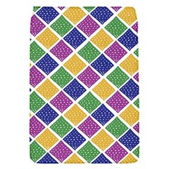 African Illutrations Plaid Color Rainbow Blue Green Yellow Purple White Line Chevron Wave Polkadot Flap Covers (S)
