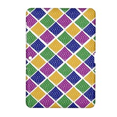 African Illutrations Plaid Color Rainbow Blue Green Yellow Purple White Line Chevron Wave Polkadot Samsung Galaxy Tab 2 (10.1 ) P5100 Hardshell Case