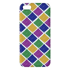 African Illutrations Plaid Color Rainbow Blue Green Yellow Purple White Line Chevron Wave Polkadot iPhone 5S/ SE Premium Hardshell Case