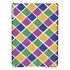 African Illutrations Plaid Color Rainbow Blue Green Yellow Purple White Line Chevron Wave Polkadot iPad Air Hardshell Cases