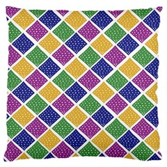 African Illutrations Plaid Color Rainbow Blue Green Yellow Purple White Line Chevron Wave Polkadot Large Flano Cushion Case (Two Sides)