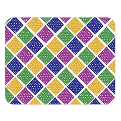 African Illutrations Plaid Color Rainbow Blue Green Yellow Purple White Line Chevron Wave Polkadot Double Sided Flano Blanket (large)