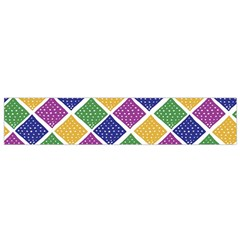 African Illutrations Plaid Color Rainbow Blue Green Yellow Purple White Line Chevron Wave Polkadot Flano Scarf (Small)