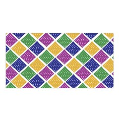 African Illutrations Plaid Color Rainbow Blue Green Yellow Purple White Line Chevron Wave Polkadot Satin Shawl