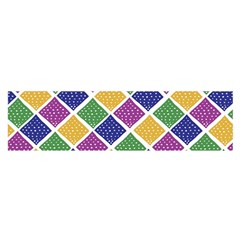 African Illutrations Plaid Color Rainbow Blue Green Yellow Purple White Line Chevron Wave Polkadot Satin Scarf (Oblong)