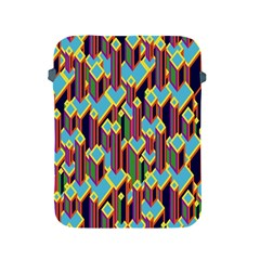 Building City Plaid Chevron Wave Blue Green Apple iPad 2/3/4 Protective Soft Cases
