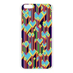 Building City Plaid Chevron Wave Blue Green Apple Seamless iPhone 6 Plus/6S Plus Case (Transparent)