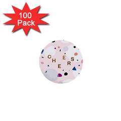 Cheers Polkadot Circle Color Rainbow 1  Mini Buttons (100 pack)