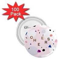 Cheers Polkadot Circle Color Rainbow 1.75  Buttons (100 pack)