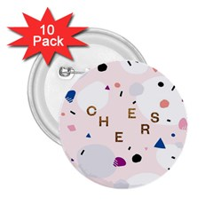 Cheers Polkadot Circle Color Rainbow 2.25  Buttons (10 pack)