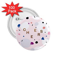 Cheers Polkadot Circle Color Rainbow 2.25  Buttons (100 pack)
