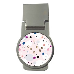Cheers Polkadot Circle Color Rainbow Money Clips (Round)