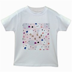 Cheers Polkadot Circle Color Rainbow Kids White T Shirts