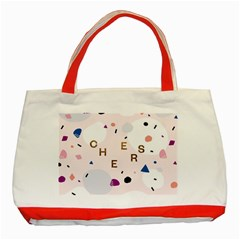 Cheers Polkadot Circle Color Rainbow Classic Tote Bag (Red)