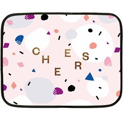 Cheers Polkadot Circle Color Rainbow Fleece Blanket (Mini)