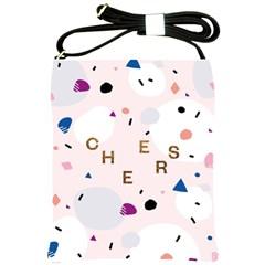 Cheers Polkadot Circle Color Rainbow Shoulder Sling Bags