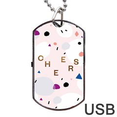 Cheers Polkadot Circle Color Rainbow Dog Tag USB Flash (Two Sides)