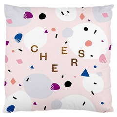 Cheers Polkadot Circle Color Rainbow Large Cushion Case (Two Sides)