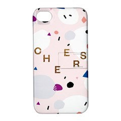 Cheers Polkadot Circle Color Rainbow Apple iPhone 4/4S Hardshell Case with Stand