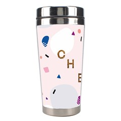 Cheers Polkadot Circle Color Rainbow Stainless Steel Travel Tumblers