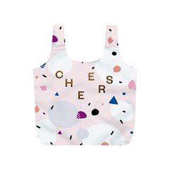 Cheers Polkadot Circle Color Rainbow Full Print Recycle Bags (S)