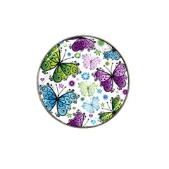 Butterfly Animals Fly Purple Green Blue Polkadot Flower Floral Star Hat Clip Ball Marker (10 pack)