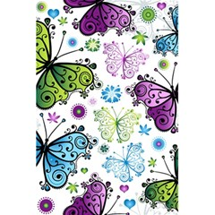Butterfly Animals Fly Purple Green Blue Polkadot Flower Floral Star 5 5  X 8 5  Notebooks