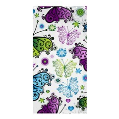 Butterfly Animals Fly Purple Green Blue Polkadot Flower Floral Star Shower Curtain 36  x 72  (Stall)