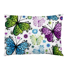 Butterfly Animals Fly Purple Green Blue Polkadot Flower Floral Star Pillow Case (Two Sides)