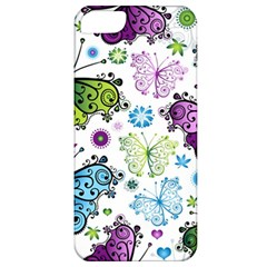 Butterfly Animals Fly Purple Green Blue Polkadot Flower Floral Star Apple iPhone 5 Classic Hardshell Case